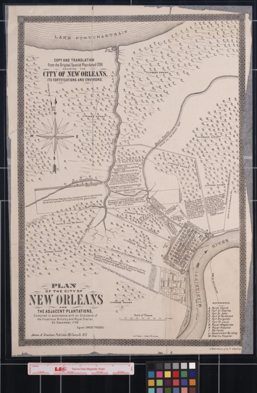 Plan of the City of New Orleans and the Adjacent Plantations