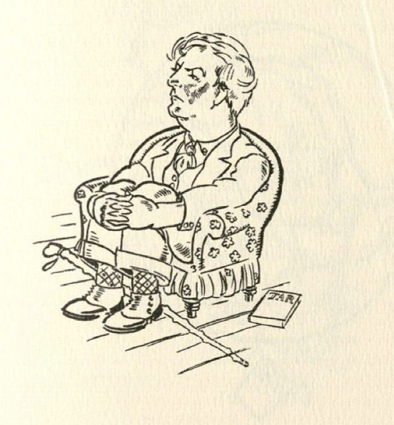A caricature of Sherwood Anderson in William Spratling and William Faulkner's book, <em>Sherwood Anderson & Other Famous Creoles: A Gallery of Contemporary New Orleans</em>