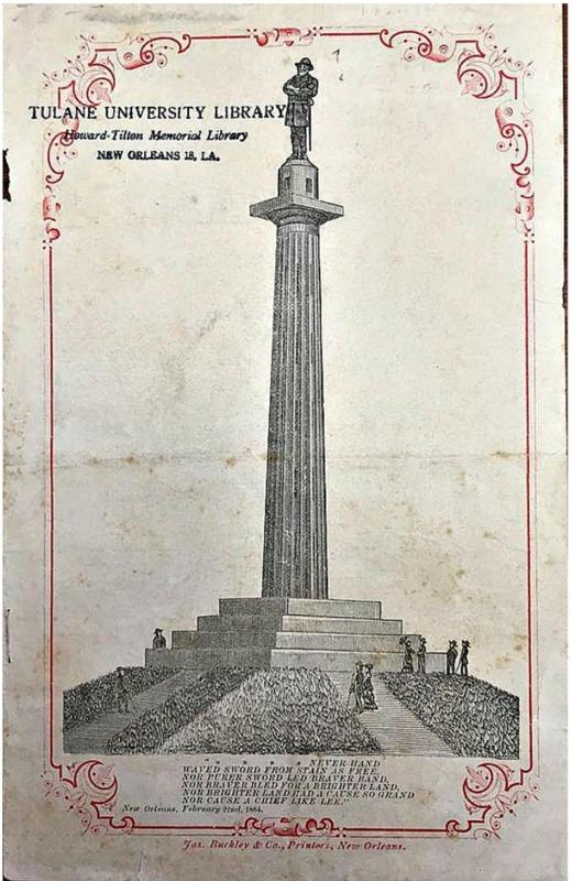 Programme of Ceremonies: Unveiling of Statue Gen'l Robert E. Lee, front cover