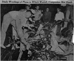 The Loss of Walter Wedell in 1935