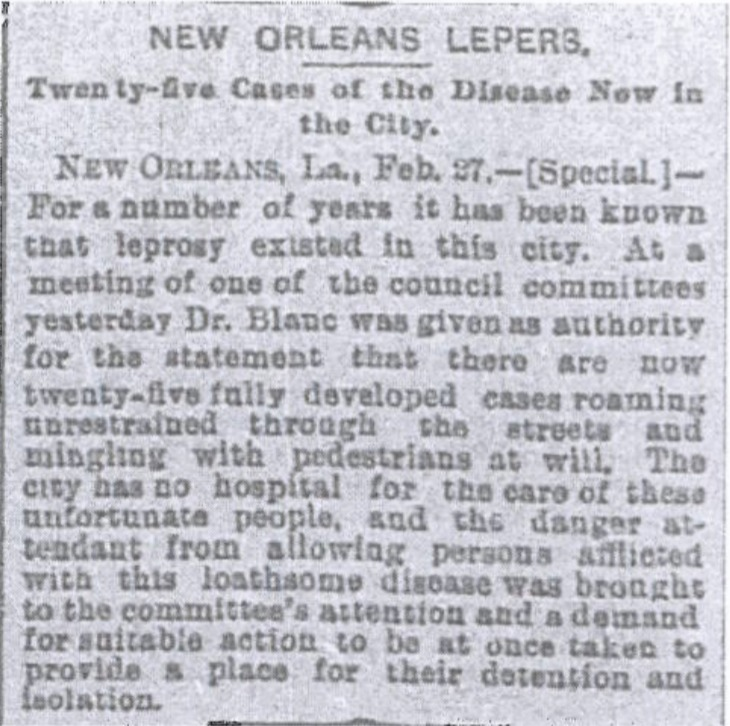 """New Orleans Lepers"""