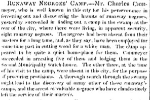 """Runaway Negroes' Camp"""