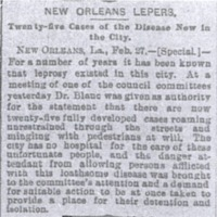 """""""New Orleans Lepers"""""""